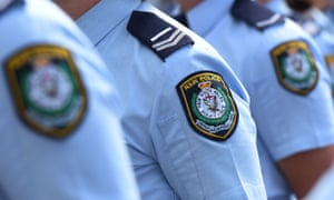 badges on police shirts