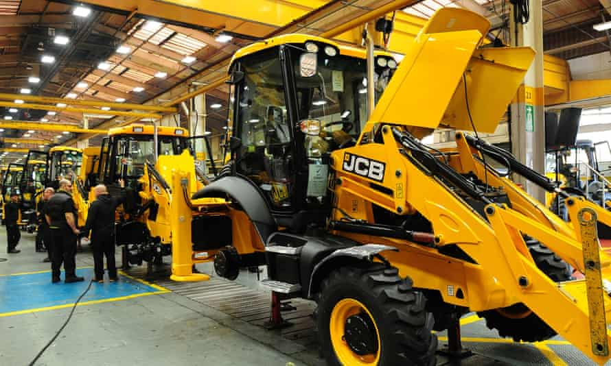 The JCB factory in Rocester, Staffordshire, where workers are to go on a shorter week.
