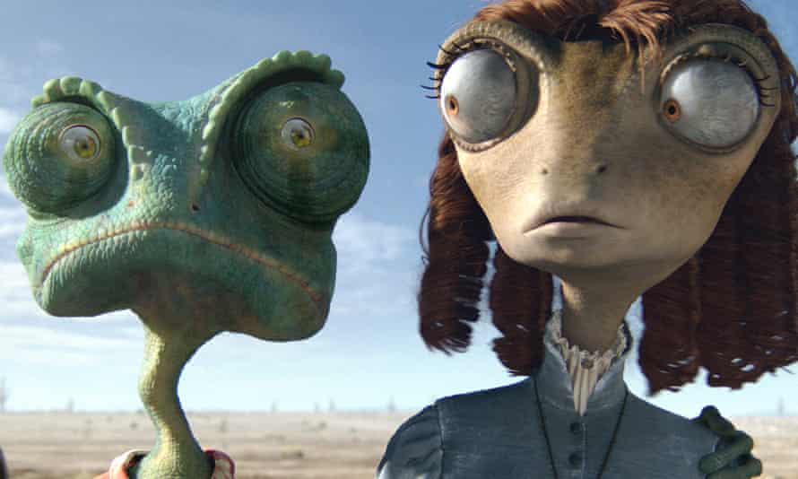 Rango: the animated western was shown in 'family viewing time' on a Sunday afternoon.