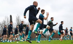 Rory Best (centre) will captain an Ireland side on Saturday that are without Conor Murray and Sean O'Brien.