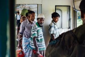 Rohingya passengers get off at Khaung Doke Khar village