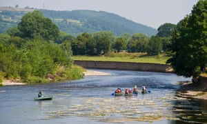Paddling down the River Wye.