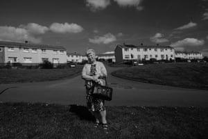 Carol Thomas, who lives on the Gurnos, Merthyr Tydfil comes from generations of miners. Her grandfather was killed at 24 years of age and 'brought home in a sack'