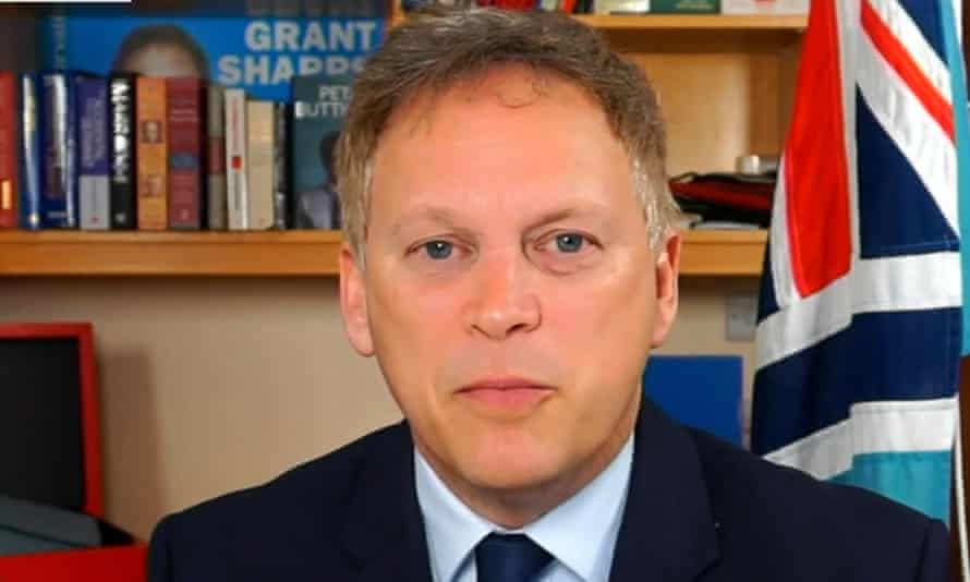 Grant Shapps on Friday morning during a round of broadcast interviews.