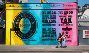 The Mulberry 'shout-out' mural on Great Eastern Street, in trendy Shoreditch, east London.