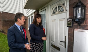 Ruth Smeeth and Keir Starmer canvass for Labour in 2017