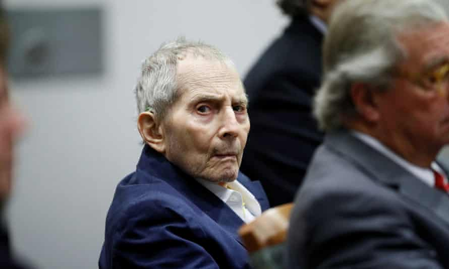 Robert Durst in court on the first day of his murder trial in Los Angeles.