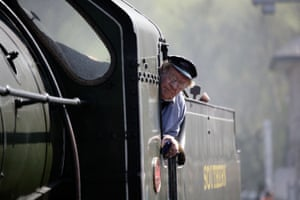 Steam engine Driver on the North Yorkshire Moors Railway