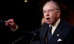 Chuck Grassley attacked leftwingers and Democrats over Kavanaugh's confirmation.