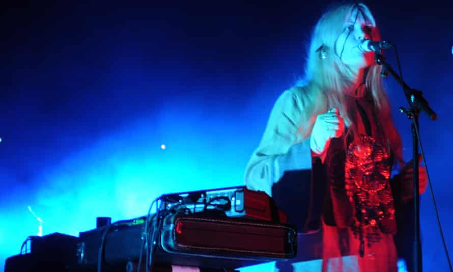 Karin Dreijer performs as Fever Ray in Rotterdam, 2009