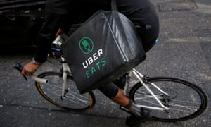 An UberEats courier in London