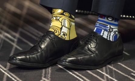 Canada's prime minister Justin Trudeau's Stars Wars-themed socks.
