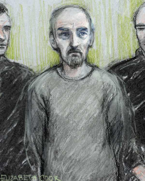 Court sketch of Thomas Mair in the dock at Westminster magistrates court in London.