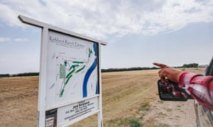 Kirkland Ranch Estates, an unbuilt housing development in Nashua near the pipeline crossing, is rumored to be the site of a future mancamp for pipeline workers. Developer Jed Kirkland says thecamp is going in a mile north.