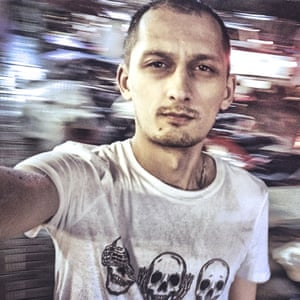 Self-portrait of Dmitry Markov.