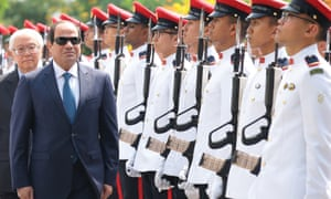 Egypt's President Sisi visiting Singapore earlier this year, the first presidential visit between the two nations