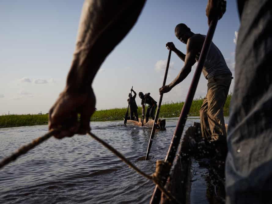 Fisherman on the River Congo, Kinshasa