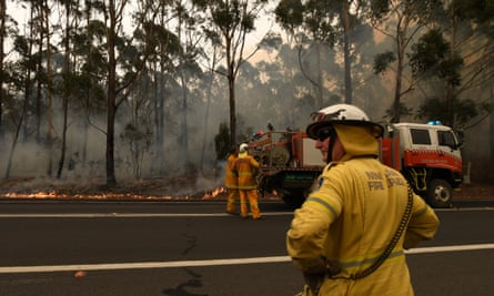 Rural Fire Service volunteers contain a small bushfire on the NSW south coast in January