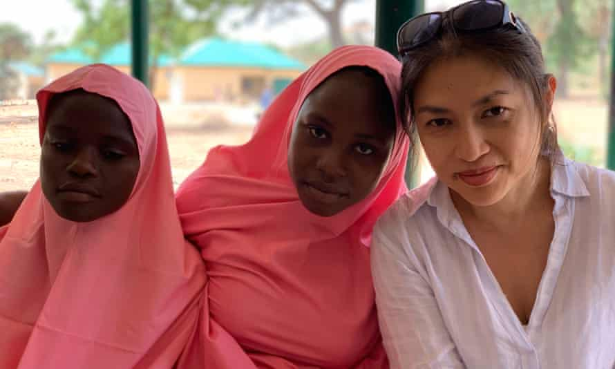 Mellissa Fung with Boko Haram survivors Zara and Amina.