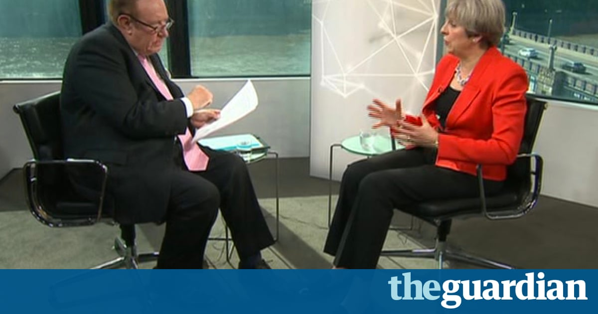 56155d06959c Theresa May faced the BBC s Andrew Neil in a tense interview on Monday. He  repeatedly pressed the prime minister on her social care policy U-turn and  ...