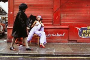 Fashion Shoot, Brixton Market, London, 1973