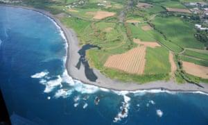 Réunion island coastline