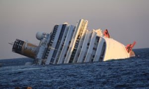 In 2012 the Costa Concordia ran aground and capsized off the coast of Tuscany, resulting in 33 deaths.