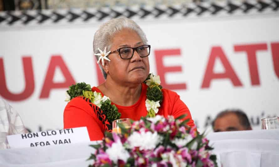 Fiame Naomi Mataafa, leader of the Faatuatua I le Atua Samoa ua Tasi (FAST) political party, has spurred a seismic political shift her Pacific nation, putting her on the verge of becoming its first female prime minister.