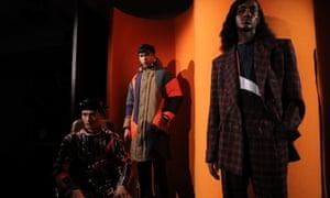 Models during the Ahluwalia London fashion week presentation