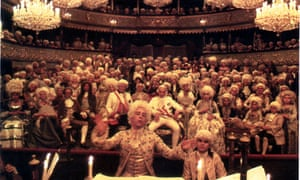 Tom Hulce in the 1984 film adaptation of Amadeus. Photograph: Ronald Grant
