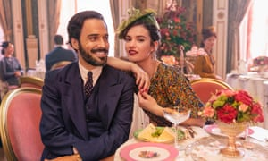 Programme Name: The Pursuit of Love - TX: n/a - Episode: The Pursuit Of Love - Teaser (No. n/a) - Picture Shows: Fabrice (ASSAAD BOUAB), Linda (LILY JAMES) - (C) Theodora Films Limited & Moonage Pictures Limited - Photographer: Robert Viglasky