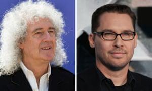 (L-R) Queen guitarist Brian May and Bohemian Rhapsody director Bryan Singer.