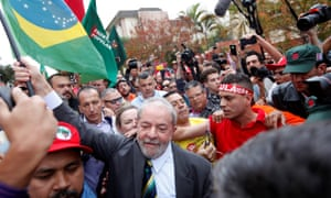 Lula arrives in court in Curitiba. Lula denies the charges, which his supporters say are part of a politically motivated legal war to stop him winning a third presidential election in 2018.