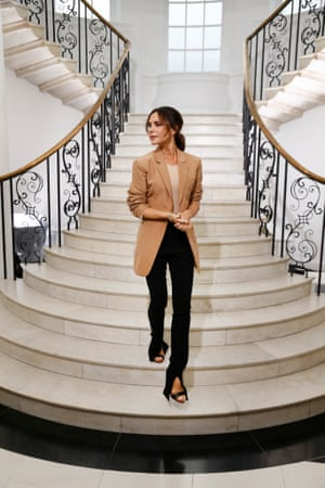 Victoria Beckham takes her bow at her London show in September 2018
