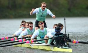 The Cambridge men's crew celebrate