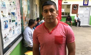Salomón Cortés, who has been caught 14 times trying to enter the US, at a migrant shelter in Tijuana, Mexico.