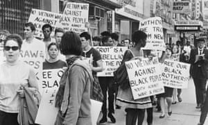 A 1967 protest about the use of federal soldiers during riots in New Jersey.