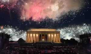 Fireworks explode over the Lincoln Memorial following Trump's Fourth of July event honoring the military in Washington DC.