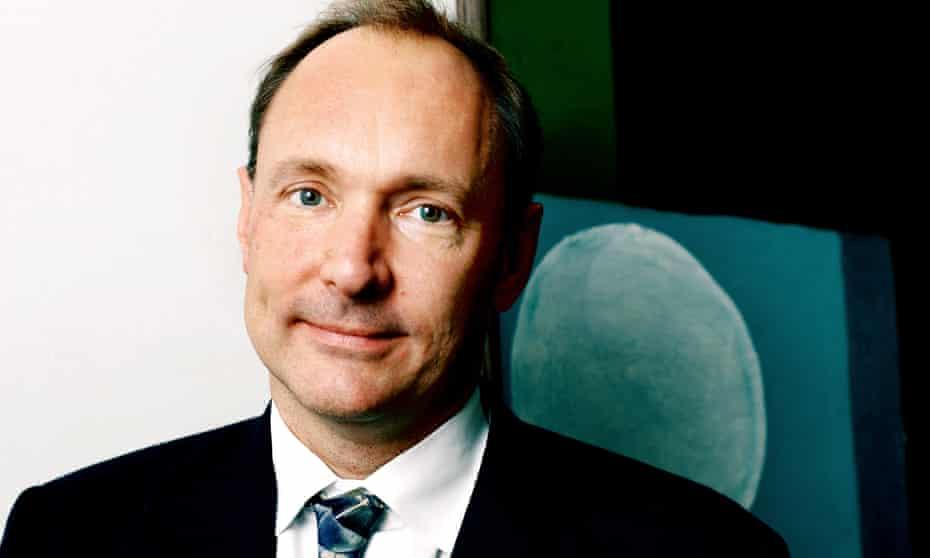 Tim Berners-Lee, inventor of the worldwide web.
