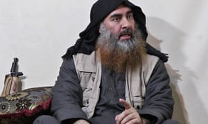 Abu Bakr al-Baghdadi on an Isis propaganda video