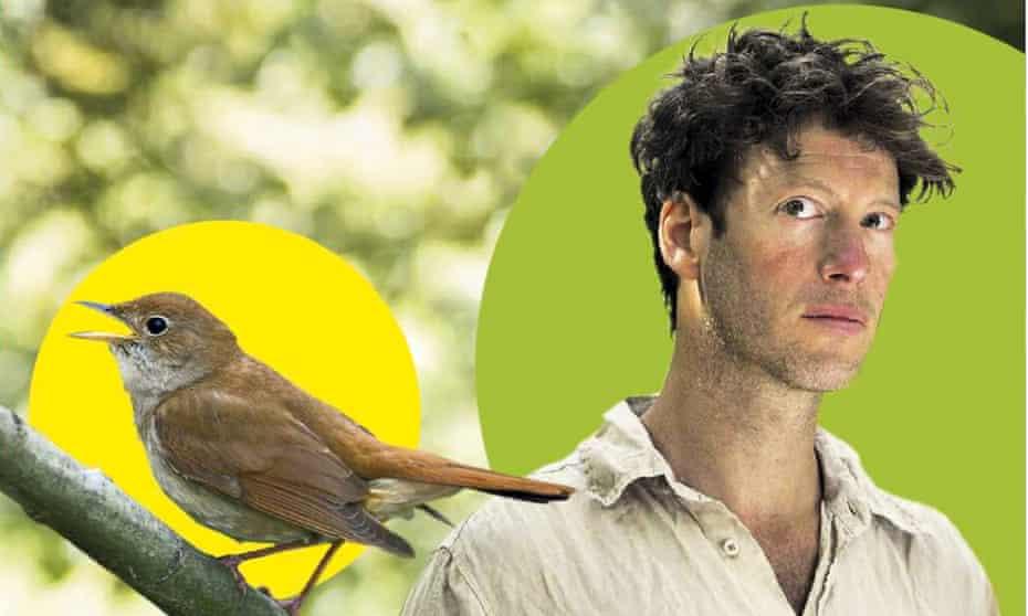 Sam Lee with a nightingale.