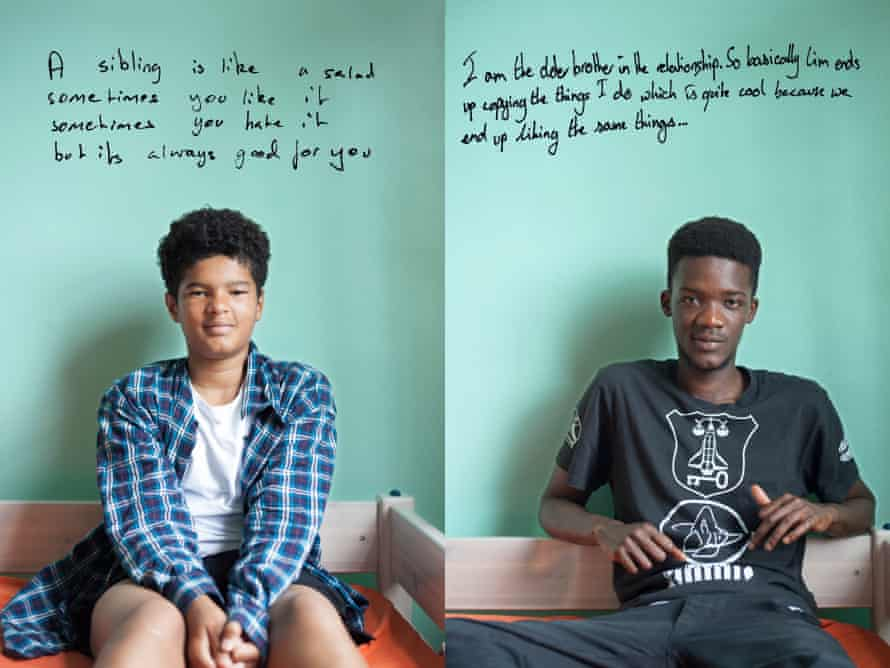 Left, Limamou, 15, and his brother Abdou, 21.