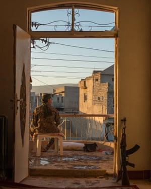 A fighter in Sinjar