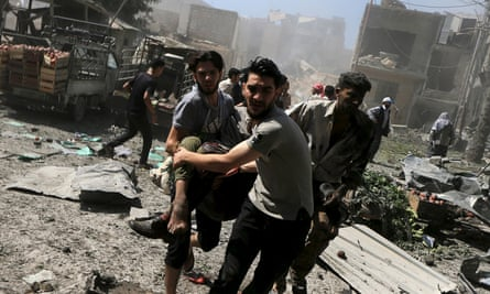 men carry casualty damascus