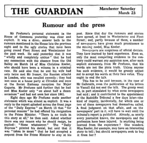 Guardian editorial, 23 March 1963.