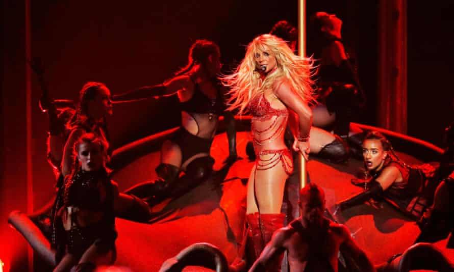Britney Spears performing in Las Vegas.