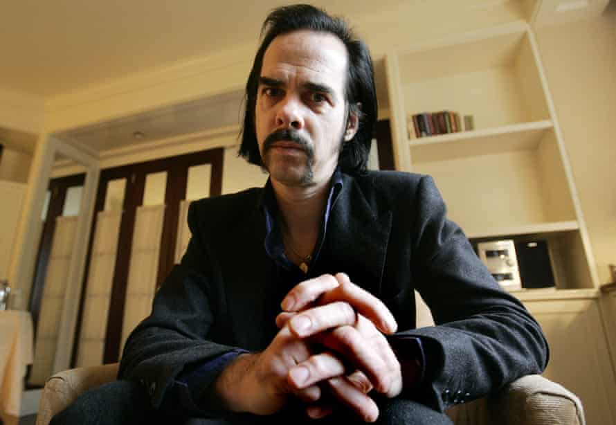 Nick Cave poses in 2006