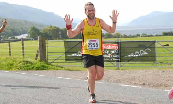 Neil Wallace in the Loch Ness marathon