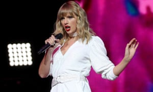 Taylor Swift performing in London in December.
