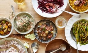 Sri Lankans like to serve a large spread featuring little pots of different treats, offering great variety and breadth of flavour.
